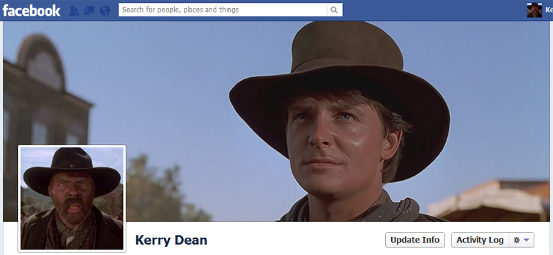Facebook Timeline Cover Picture: Back to the Future 3 (Gun Fight with Buford Mad Dog Tannen)
