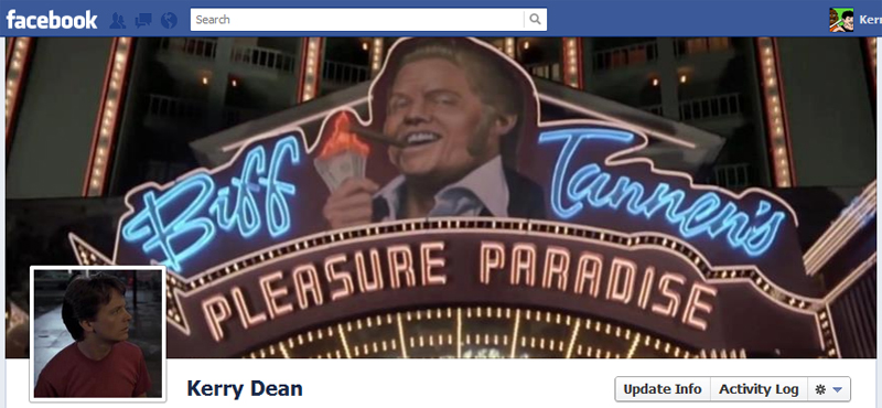 Facebook Timeline Cover Picture: Back to the Future (Pt2)
