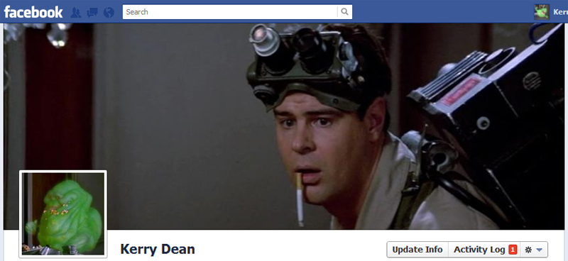 Facebook Timeline Cover Picture: Ghostbusters (Slimer)
