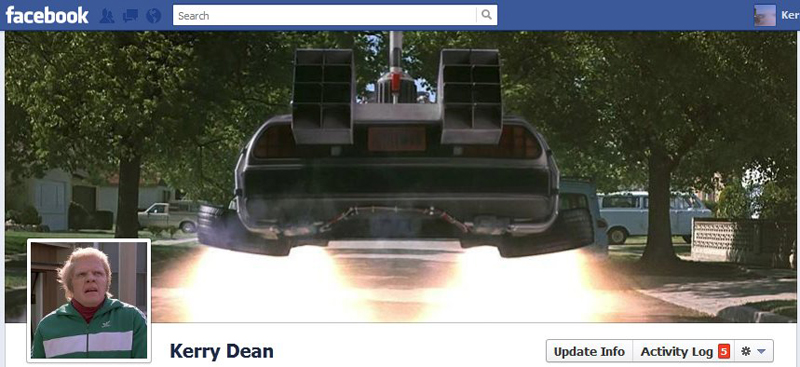 Facebook Timeline Cover Picture: Back to the Future (Pt 1)